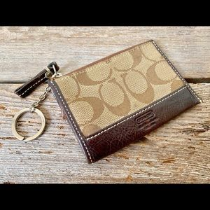 Coach signature keychain wallet, Coach keychain